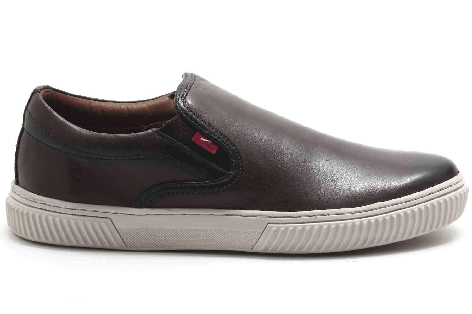 Slip On Ferracini Colors Couro Iate Masculino 7537-564