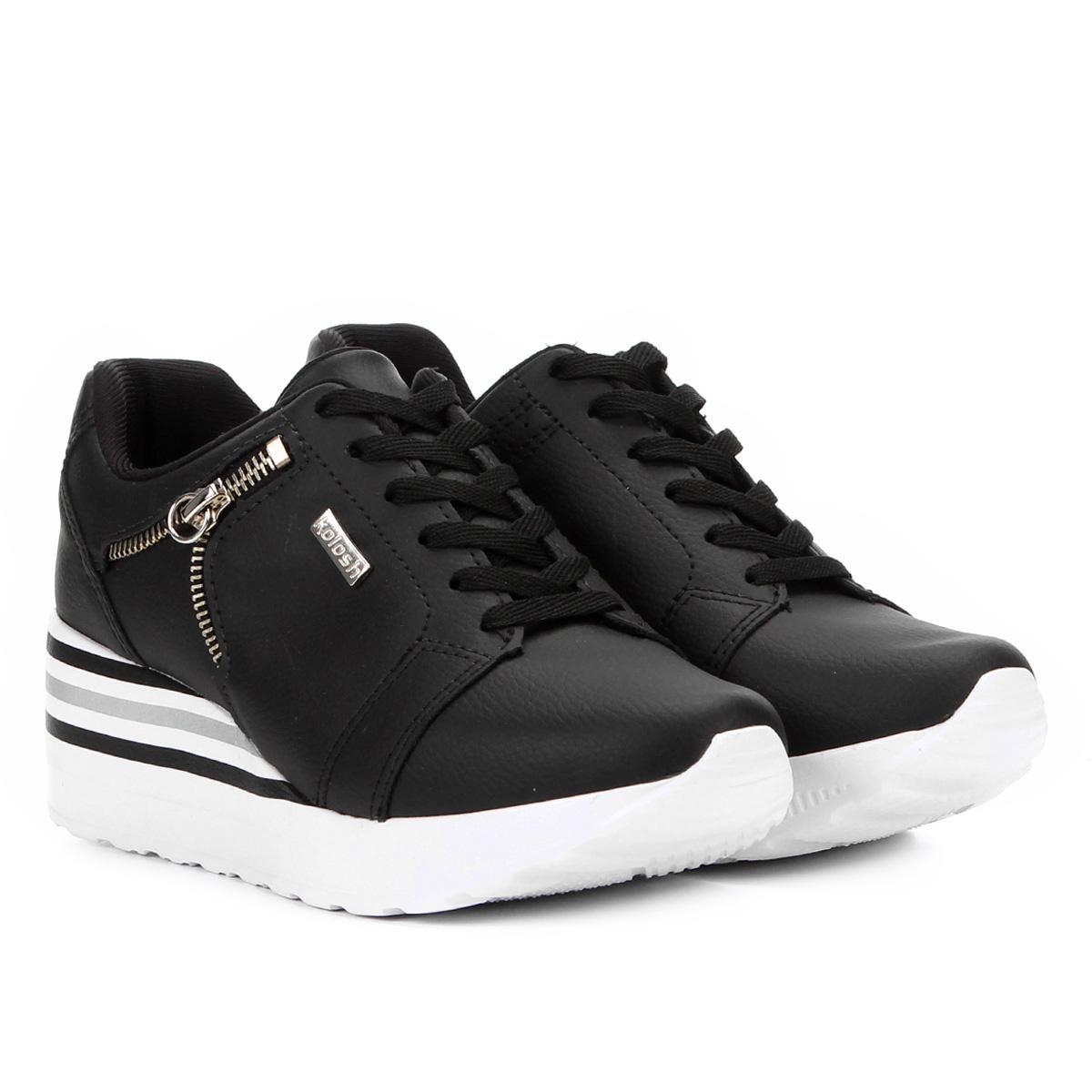 Tênis Kolosh Sneaker Anabela Zíper Lateral Feminina C1402