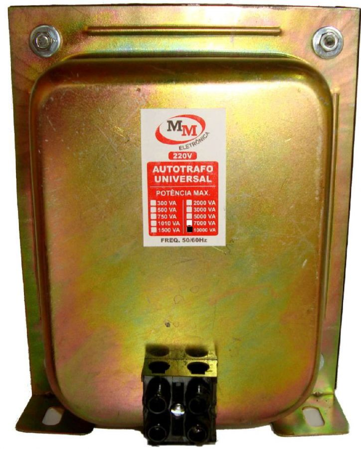 Auto Transformador automático 10.000VA Bivolt 110/220 E 220/110 - marca MM