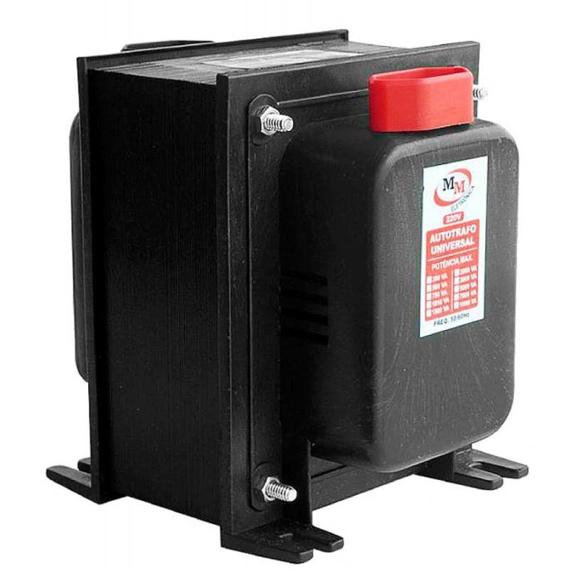 Auto Transformador automático 2.000VA Bivolt 110/220 E 220/110 - marca MM  - Esferatronic Comercio e Distribuição