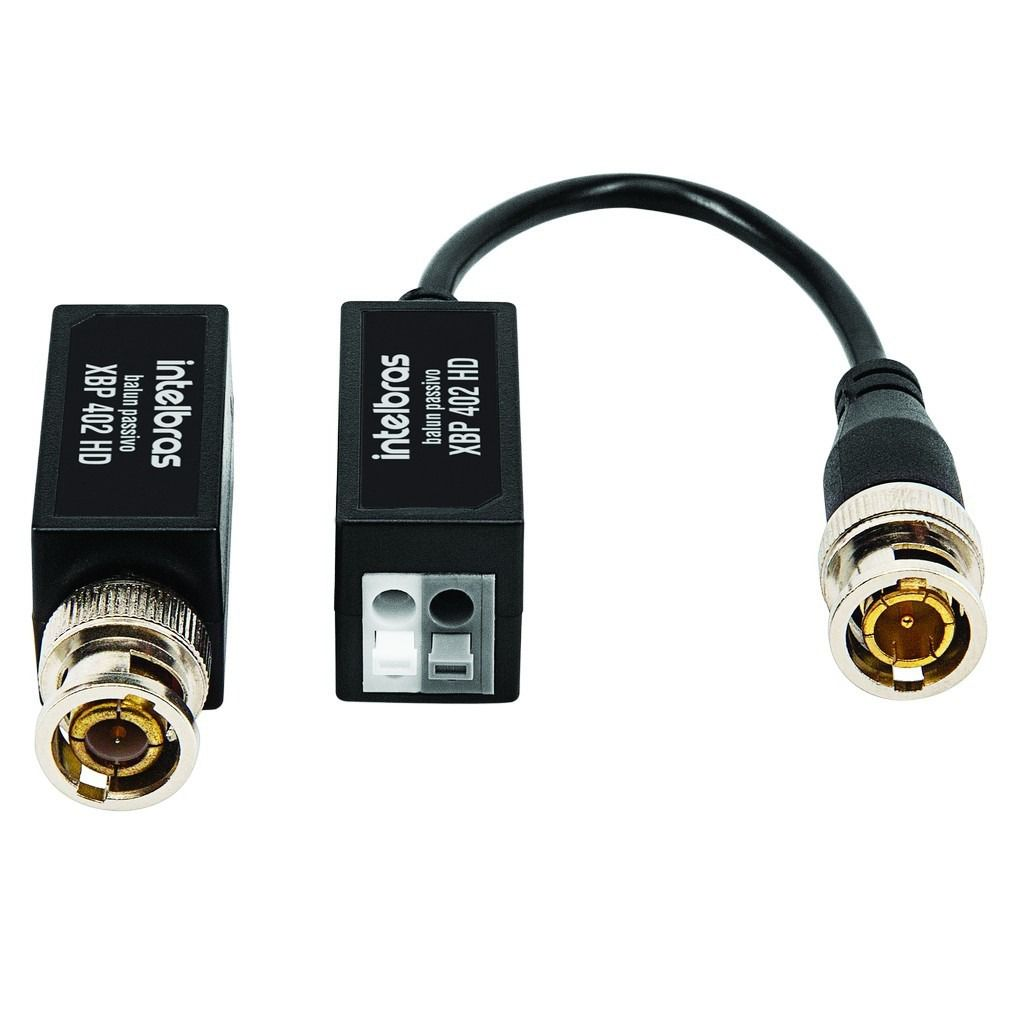 Balun Intelbras Xbp 402 HD Hibrido Para Qualquer Tecnologia Analógico HDCVI HDTVI AHD