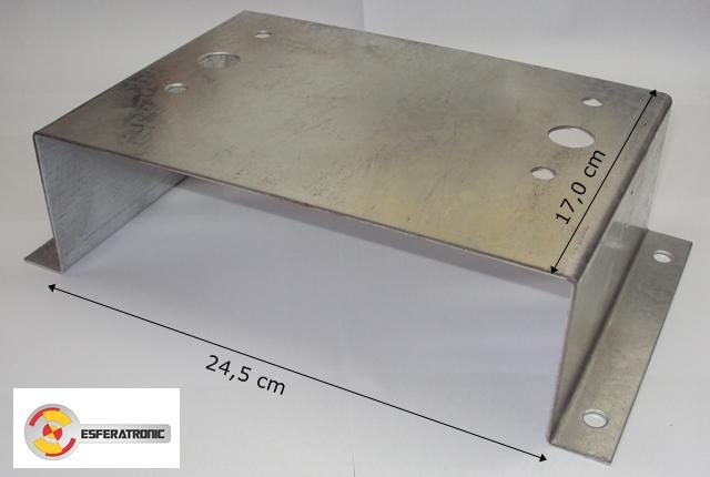 Base metalica para suporte de motor - Portão eletrônico  - Esferatronic Comercio e Distribuição