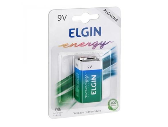 Bateria energy 9v alcalina - Elgin  - Esferatronic Comercio e Distribuição
