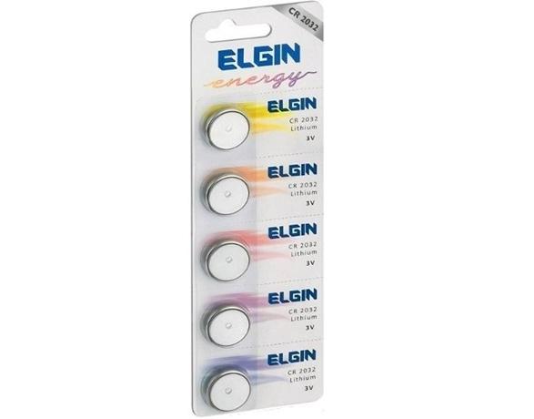 Bateria moeda CR2032 3V lithium energy - Elgin