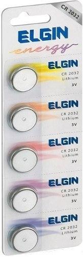 Bateria moeda Elgin CR2032 3V lithium energy