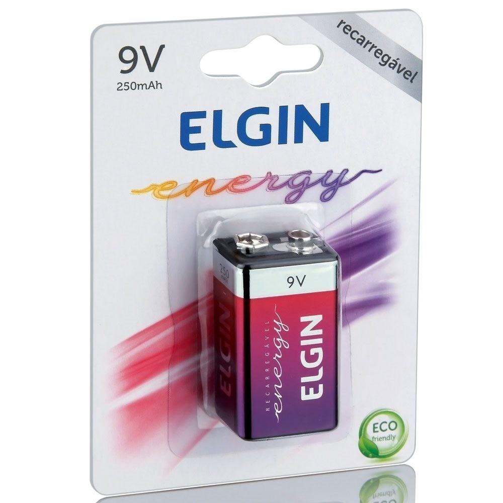 Bateria recarregável 9v 250Mah energy Elgin