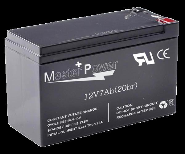 Bateria Selada 12v 7ah MasterPower Alarme / cerca Elétrica  - Esferatronic Comercio e Distribuição