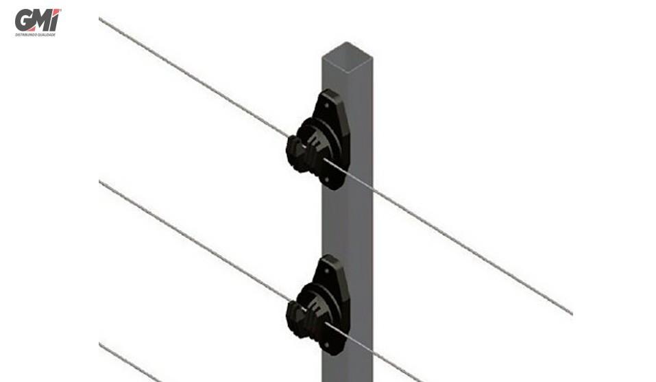 Big Haste cerca elétrica industrial quadrada 25x25mm 1 metro c/6 ISOL W Parafuso