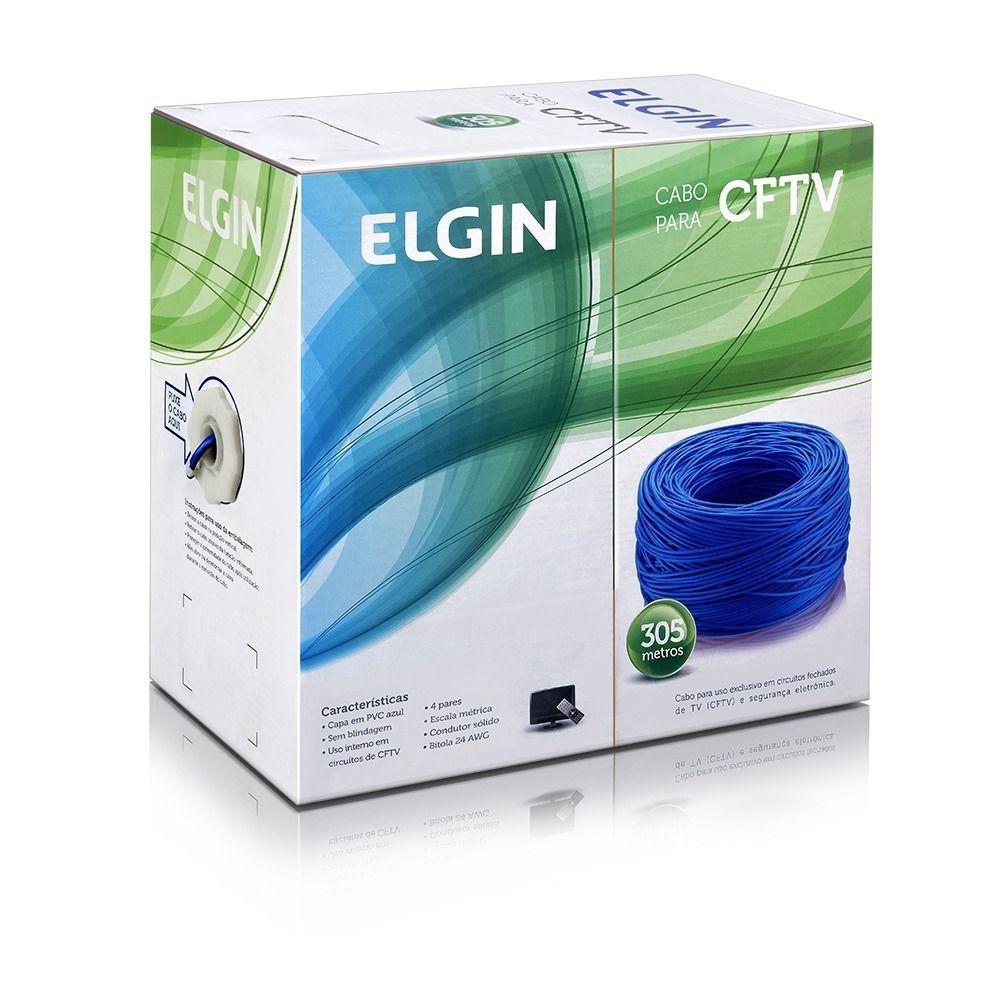 Cabo de Rede CFTV Utp Lan Cat5e Caixa 305 Metros Elgin
