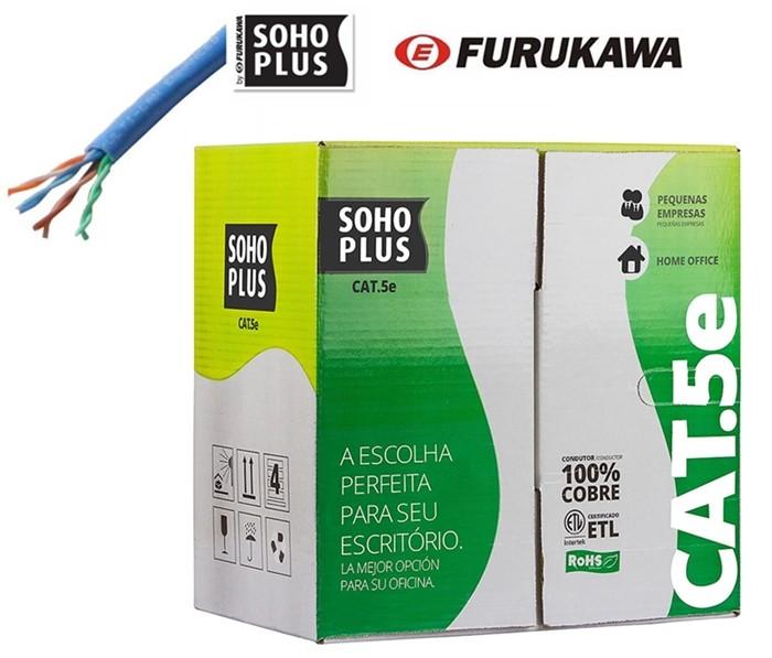 Cabo de rede Furukawa Cat 5e Soho Plus caixa com 305 Metros Azul  - Esferatronic Comercio e Distribuição