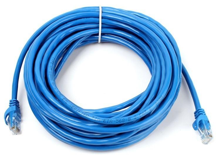 Cabo de Rede Internet CAT5e Azul 100% cobre com RJ45 Homologado Anatel - 10 Metros