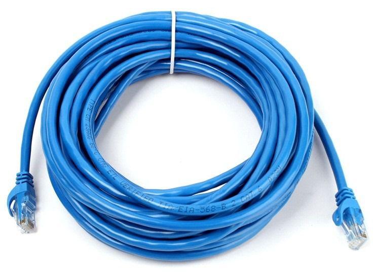 Cabo de Rede Internet CAT5e Azul 100% cobre com RJ45 Homologado Anatel