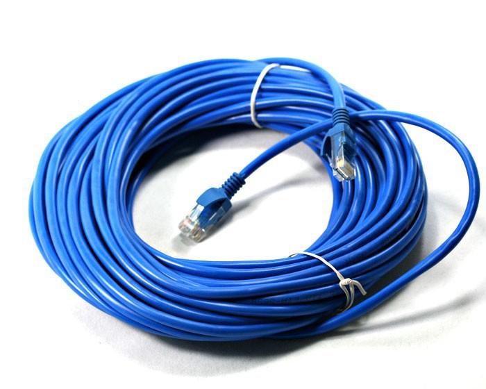 Cabo de Rede Internet CAT5e Azul 100% cobre com RJ45 Homologado Anatel - 20 Metros