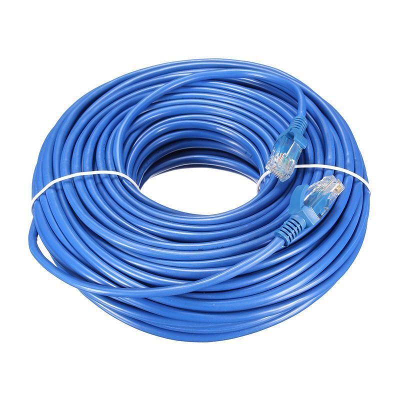 Cabo de Rede Internet CAT5e Azul 100% cobre com RJ45 Homologado Anatel - 40 Metros