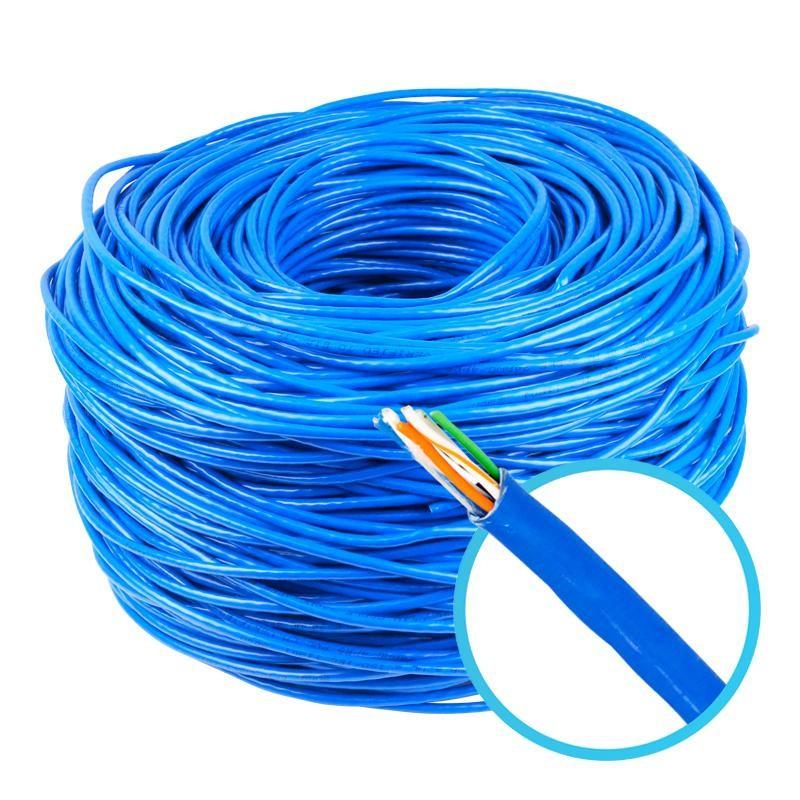 Cabo de Rede UTP CAT5e Azul 100% Cobre Homologado Anatel Megatron - 100 Metros