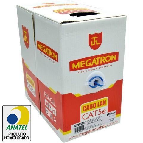 Cabo de Rede UTP CAT5e Azul 305m Homologado Anatel - Megatron