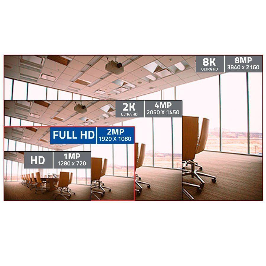 Câmera Bullet Giga Open HD Sony super Starvis 1080P IR WDR 1/2.8 20M 3,6mm IP66 GS0055