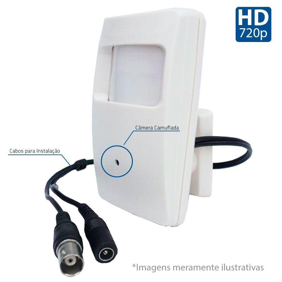 câmera camuflada sensor de presença AHD 720p Stilus