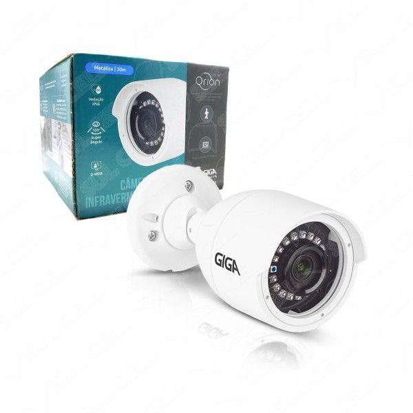 Câmera de Segurança Giga Bullet FULL HD 1080p infra 30m Open HD Sony Starvis WDR 4mm ip66 GS0052