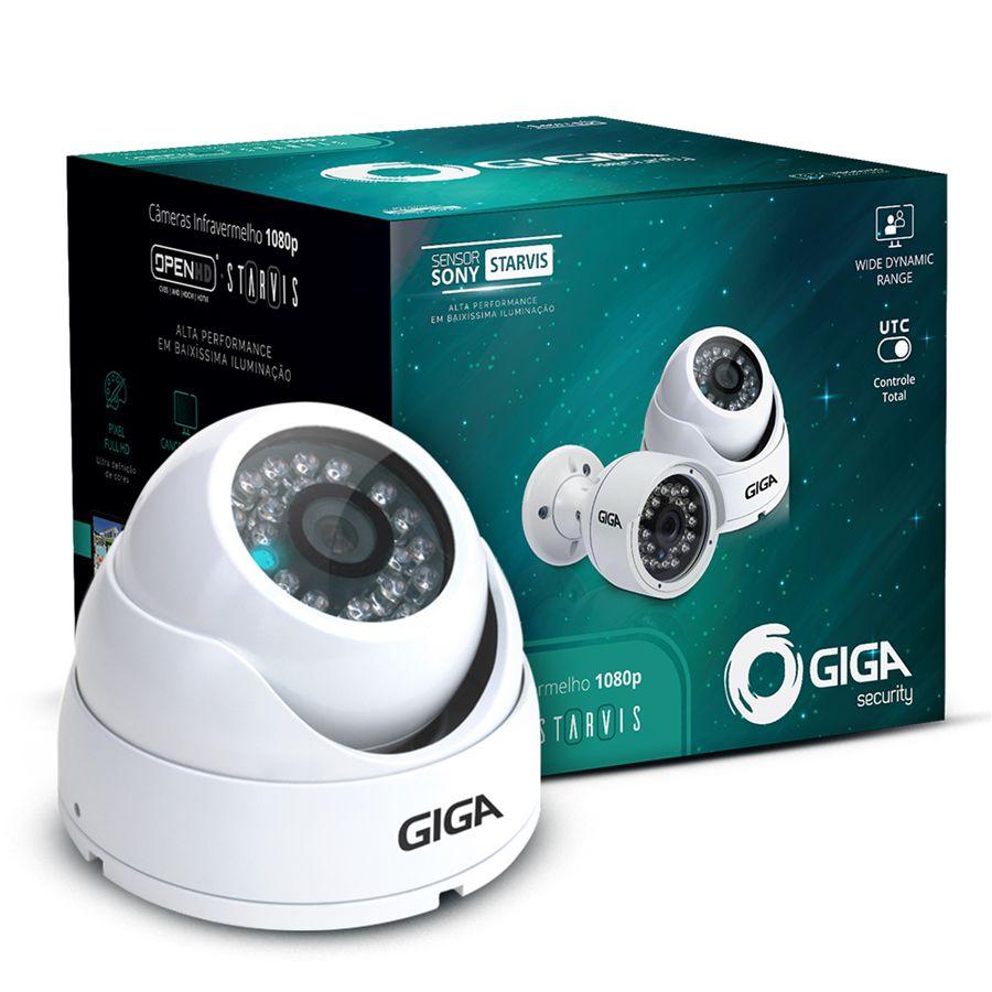 Câmera de Segurança Giga Dome FULL HD 1080p infra 30m Open HD Sony Starvis WDR 4mm ip66 GS0051