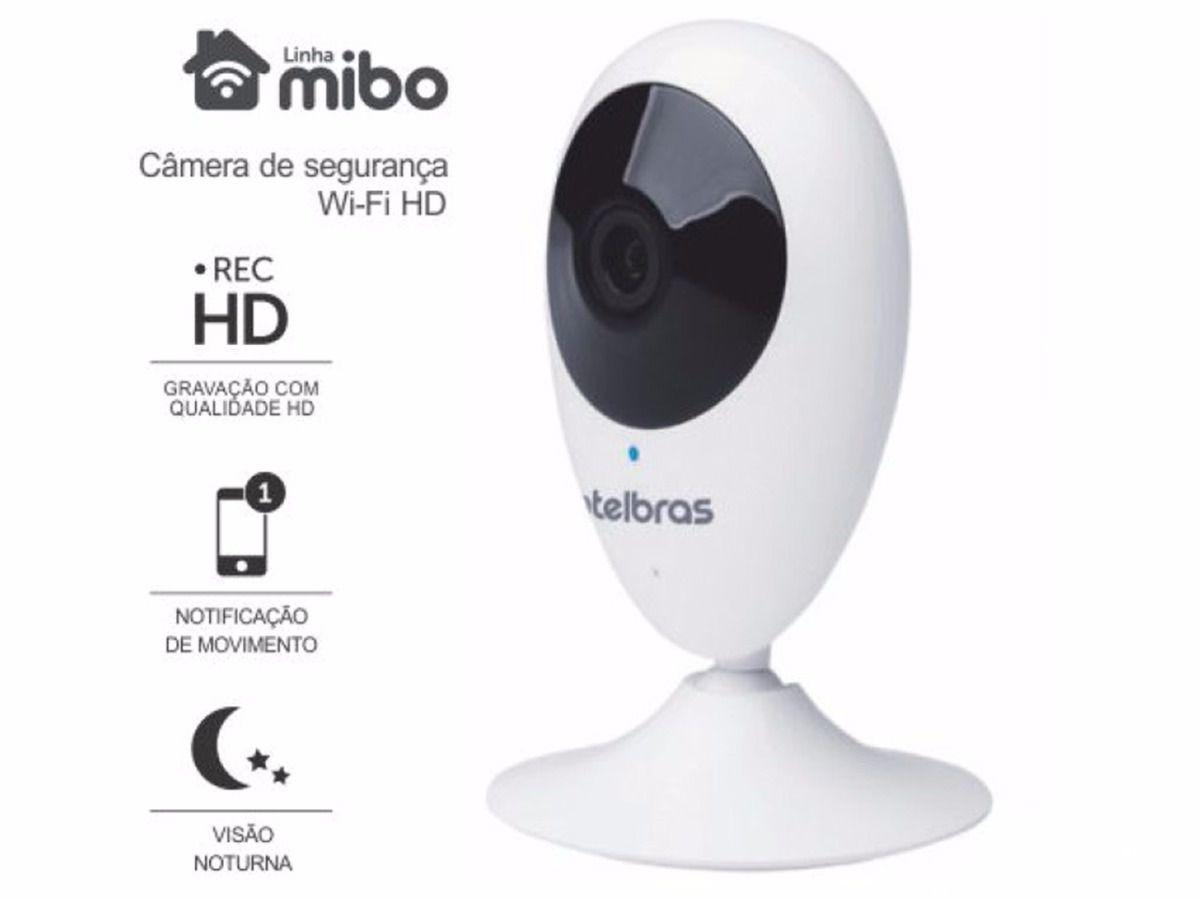Câmera de Segurança Intelbras Wifi Sem Fio Mibo iC3 HD 720p com Audio