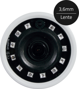 Câmera Infra Bullet ECD 3 em 1 de 2MP full HD 1080P ip67 Luxvision