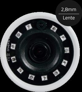 Câmera Infra Dome ECD 3 em 1 de 1MP HD 720P ip67 Luxvision