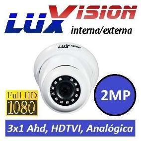 Câmera Infra Dome ECD 3 em 1 de 2MP full HD 1080P lente 2.8mm  ip67 Luxvision  - Esferatronic Comercio e Distribuição