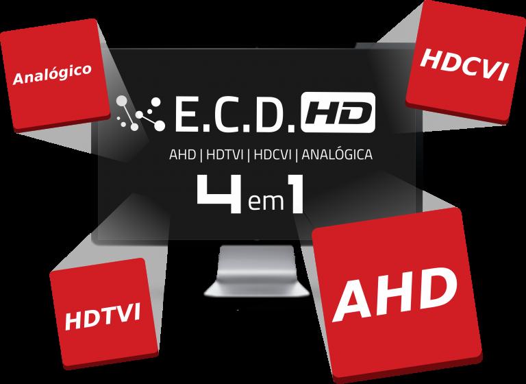 Câmera Infravermelho bullet Luxvision ECD 4 em 1HD 720p 1MP 3.6MM IP66