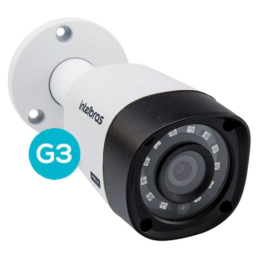 Câmera Intelbras Bullet Multi HD Vhd 3120B 720p 2,8mm G3