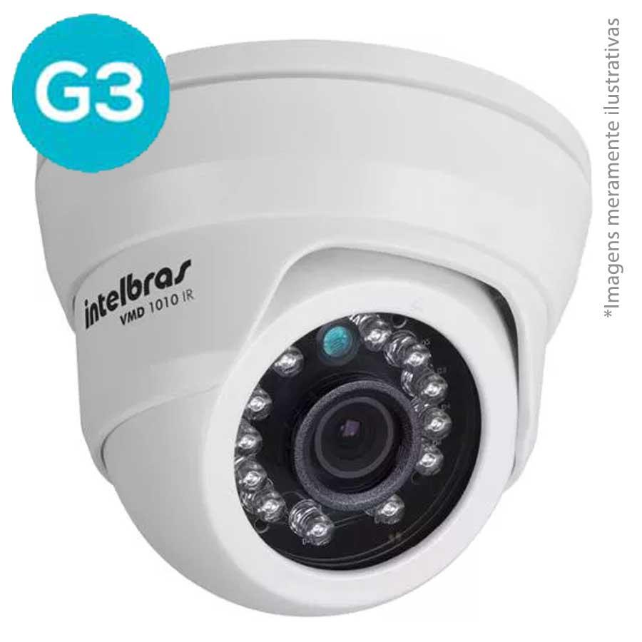 Câmera Intelbras Dome Analog + AHD 720p Vmd 1010 IR 3,6mm G3