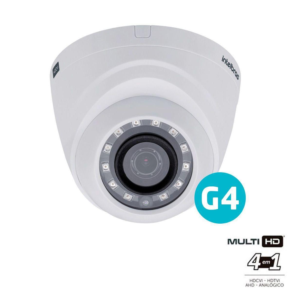 Câmera Intelbras Dome Infra Mult HD 720p VHD 1010D G4 3.6mm