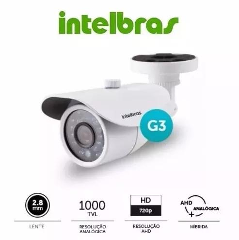 Câmera Intelbras Infravermelho Analog + AHD 720p Vm 3120 IR G3  - Esferatronic Comercio e Distribuição