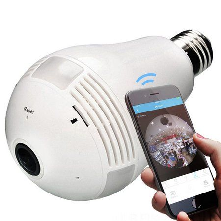 Câmera IP Lampada led panorâmica 360° 3D wifi 1.3mp LuaTek