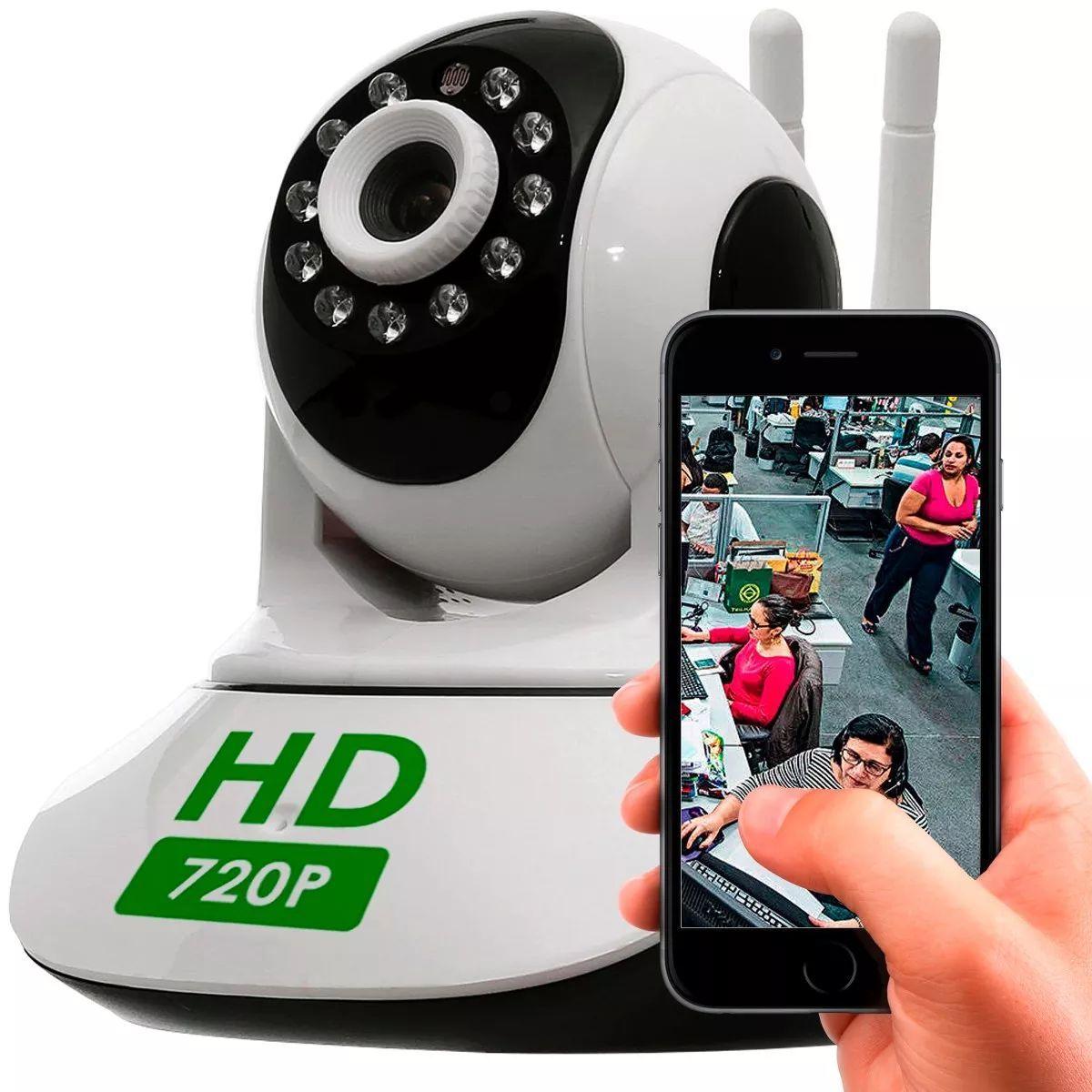 Câmera Ip Ptz 1.3mp 720p Hd Wireless Wifi Audio Sd P2p