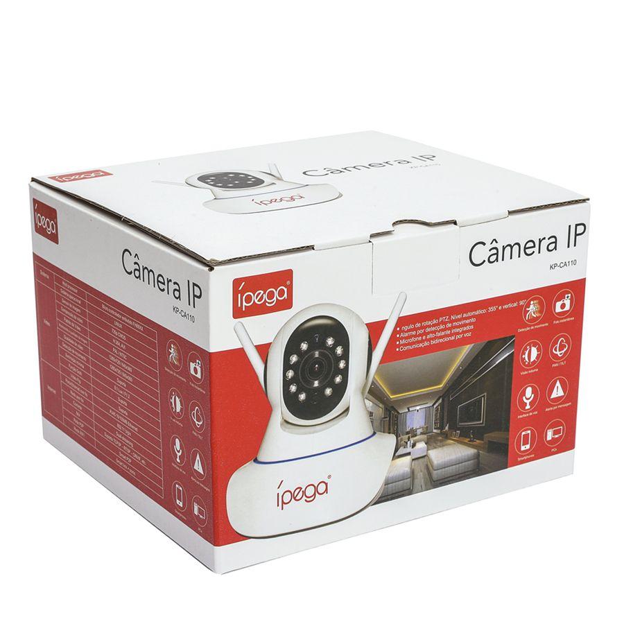 Câmera Ip Wifi 1.3mp 720p Alta resolução P2p Visão noturna Ipega