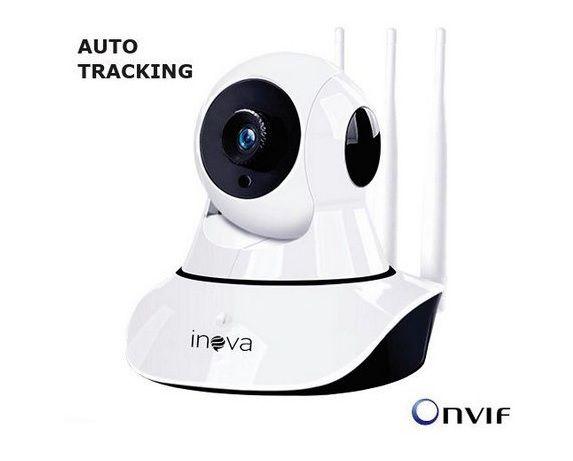 Câmera ip Wifi Inteligente Hd 720p Auto Tracking  Visão Noturna 10 Metros, Visualização no Celular - Inova