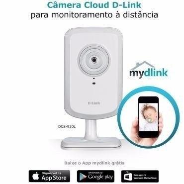 Camera Ip Wireless Cloud D-link Dcs-930L Sem Fio Zoom 4x