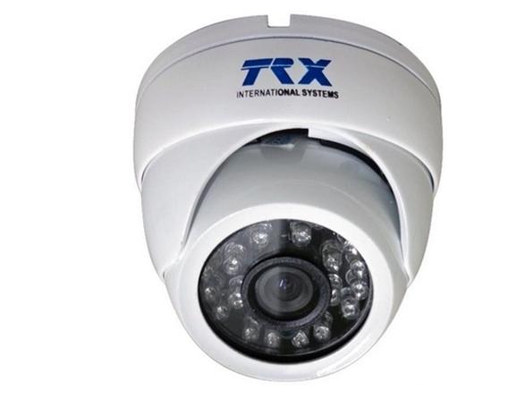 Câmera mini dome com infravermelho IR25 metros 24 leds CCD sony 1/4 3,6mm - TRX