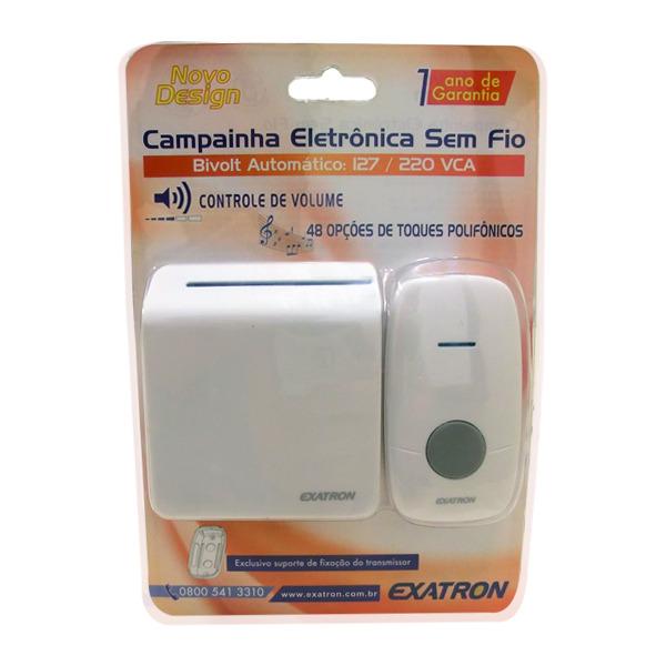 Campainha Sem Fio Wireless 48 Toques Musicais Bivolt Exatron