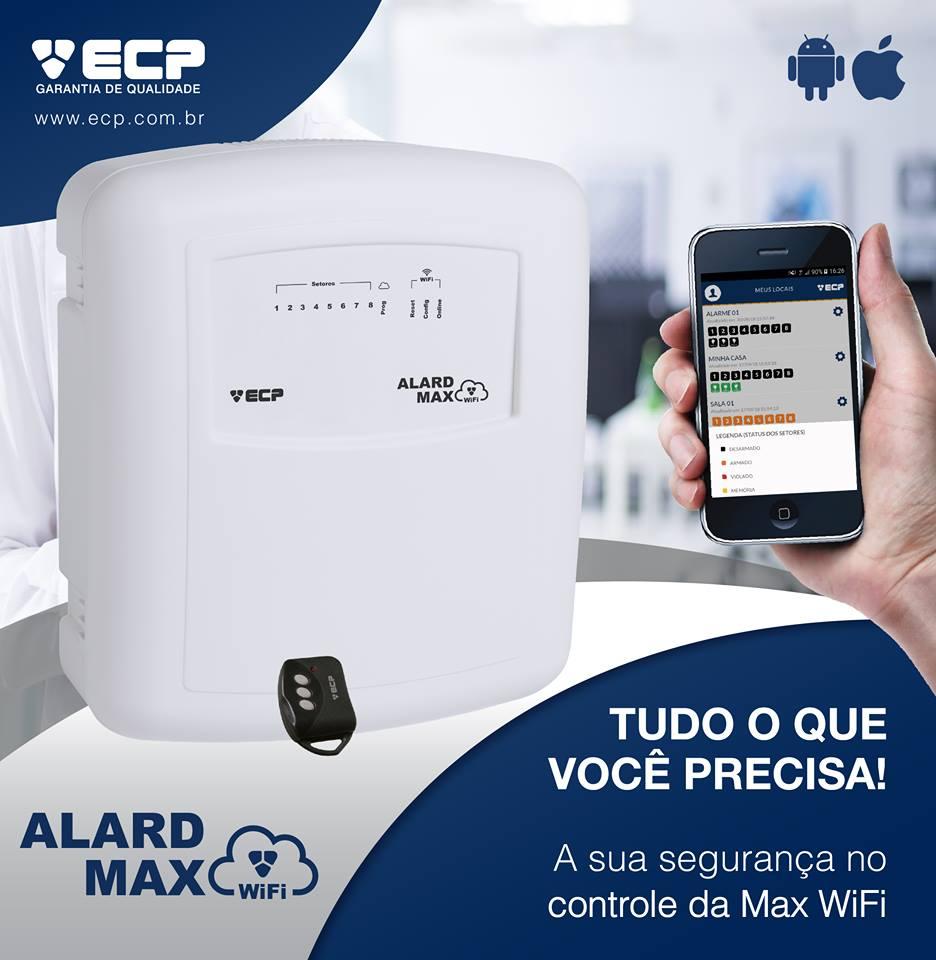 Central De Alarme Alard Max Wifi Ecp Monitore Por App
