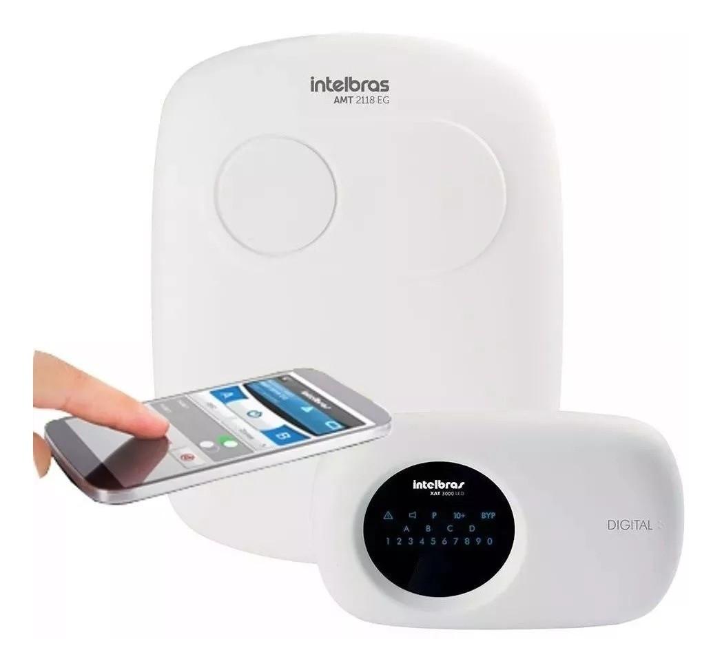 Central de Alarme AMT 2118 EG Intelbras com 18 zonas monitorada via (linha telefônica/ethernet/GSM-GPRS)