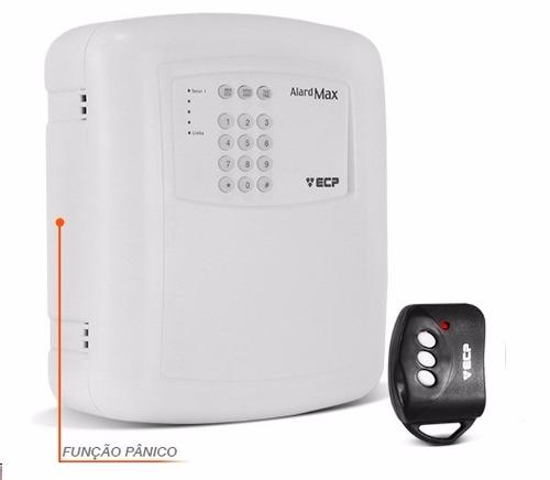 Central de Alarme Residencial e Comercial com Discadora e Controle Alard Max 1 - ECP