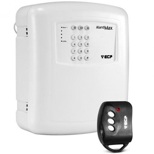 Central de Alarme Residencial e Comercial com Discadora e Controle Alard Max 1 - ECP  - Esferatronic Comercio e Distribuição