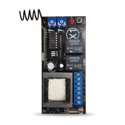 Central placa de comando eletrônica Light X1 com receptor 433Mhz - Ipec