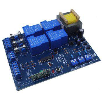 Central placa de comando eletrônica trifásica industrial com freio e receptor 433Mhz - Ipec