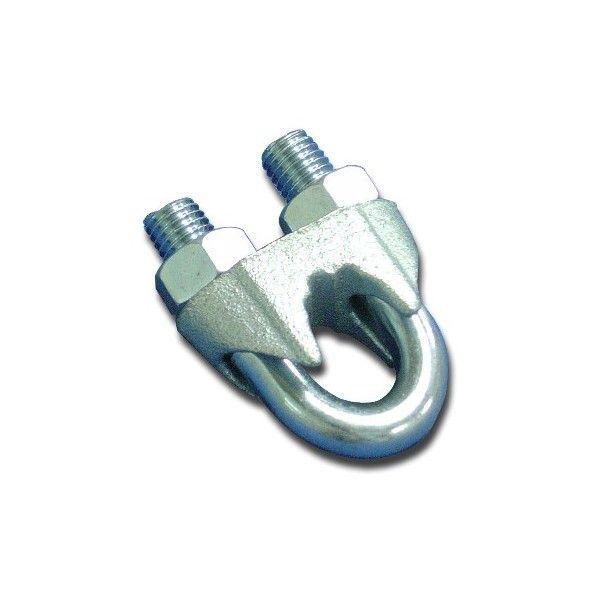 Clips grampo para cabo de aço em cerca industrial (A)1/8-3,2mm