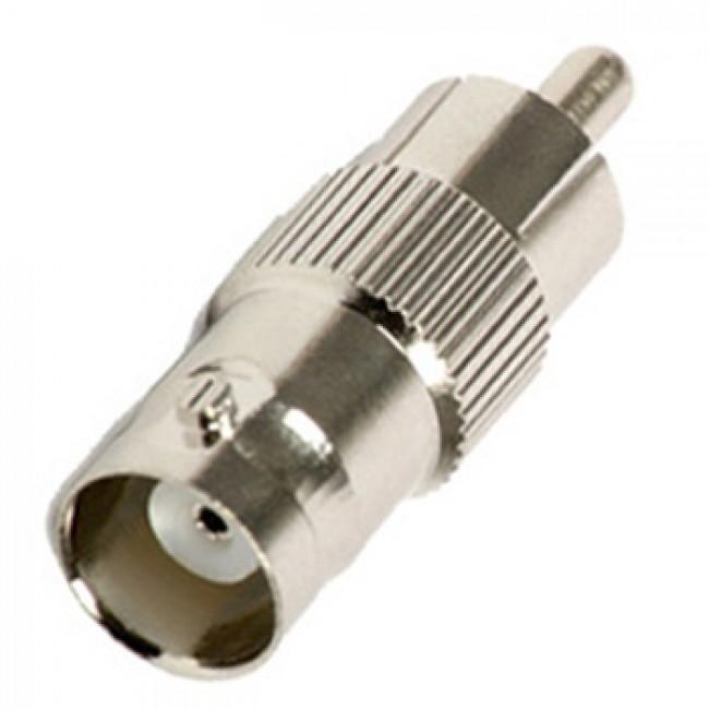 Conector adaptador RCA macho p/ BNC fêmea