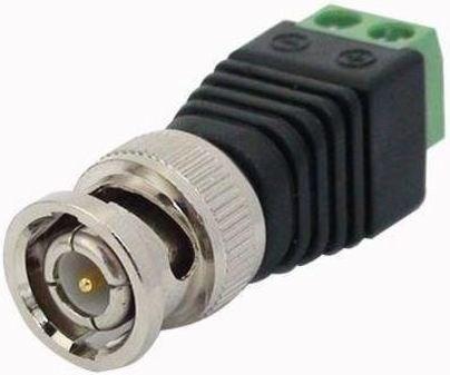Conector BNC macho com borne para CFTV