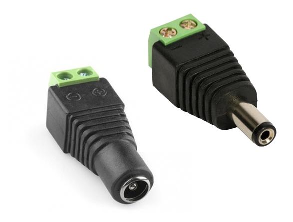 Conector P4 borne para alimentação de câmera de segurança